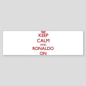Keep Calm and Ronaldo ON Bumper Sticker