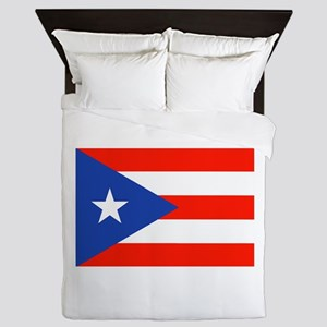 Boricua Bandera Puerto Rican Orgullo 4 Queen Duvet