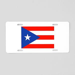 Boricua Bandera Puerto Rica Aluminum License Plate