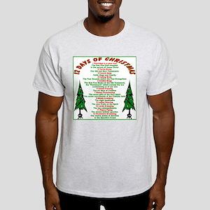 12 Days of Christmas Ash Grey T-Shirt