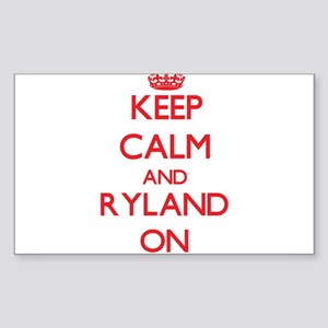 Keep Calm and Ryland ON Sticker
