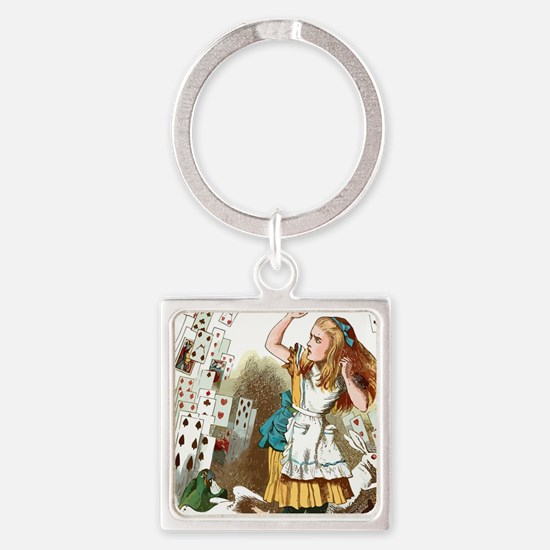 Alice In Wonderland  Square Keychain