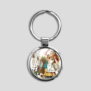 Alice In Wonderland  Round Keychain