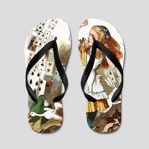 Alice In Wonderland  Flip Flops