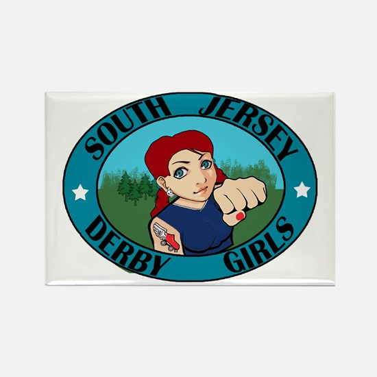 South Jersey Derby Girls Rectangle Magnet