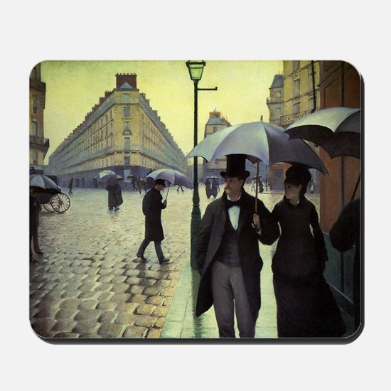 Paris Street, Rainy Day by Gustave Caill Mousepad