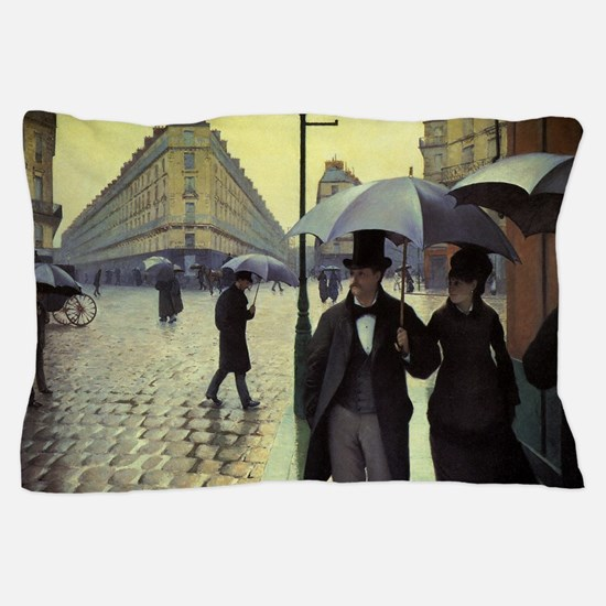 Paris Street, Rainy Day by Gustave Cai Pillow Case
