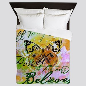 All things are possible Queen Duvet