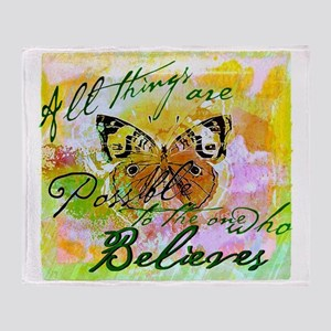 All things are possible Throw Blanket