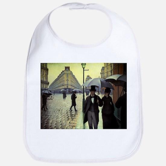 Paris Street, Rainy Day by Gustave Caillebotte Bib