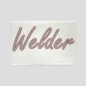 Welder Artistic Job Design Magnets