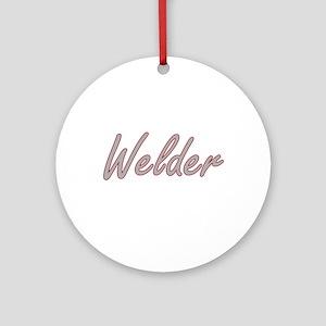 Welder Artistic Job Design Ornament (Round)