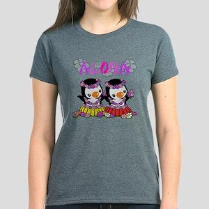 Aloha Penguins (5) Women's Dark T-Shirt