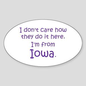 From Iowa Sticker (Oval)