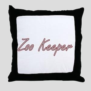 Zoo Keeper Artistic Job Design Throw Pillow