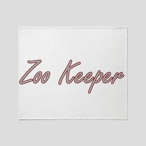 Zoo Keeper Artistic Job Design Throw Blanket