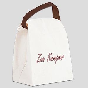 Zoo Keeper Artistic Job Design Canvas Lunch Bag