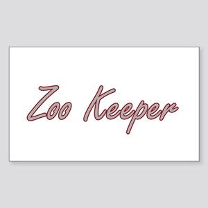 Zoo Keeper Artistic Job Design Sticker