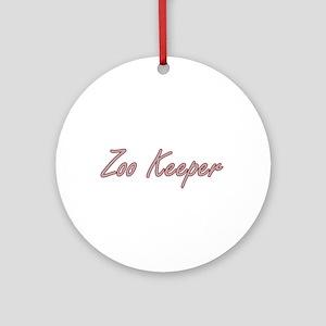 Zoo Keeper Artistic Job Design Ornament (Round)