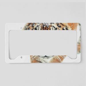 Snow Tiger License Plate Holder