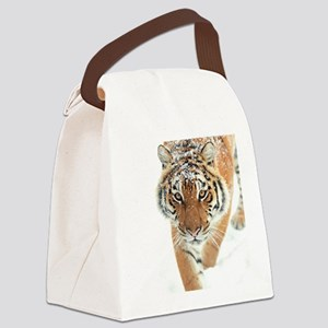 Snow Tiger Canvas Lunch Bag