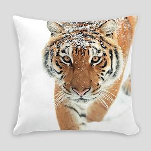 Snow Tiger Everyday Pillow