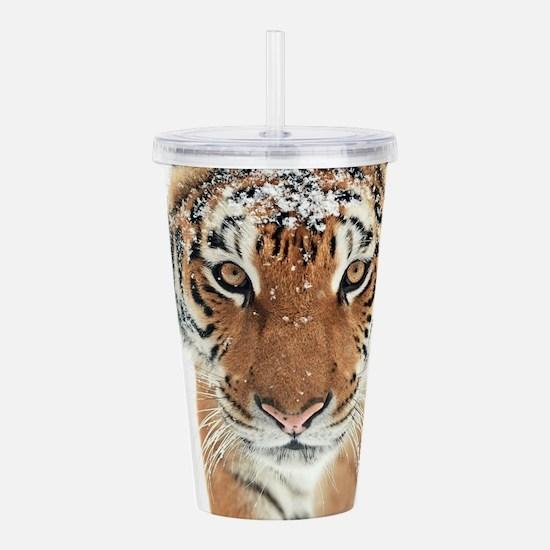 Snow Tiger Acrylic Double-wall Tumbler