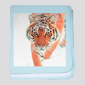 Snow Tiger baby blanket