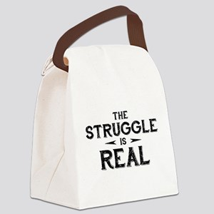The Struggle is Real Canvas Lunch Bag