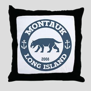 Montauk Long Island Throw Pillow