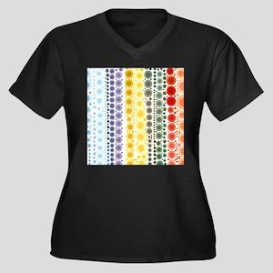 Girly Rainbow Pastel bubbles Plus Size T-Shirt