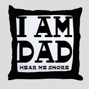 Dad Snores Throw Pillow