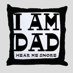 Dad Snores Throw Pillow
