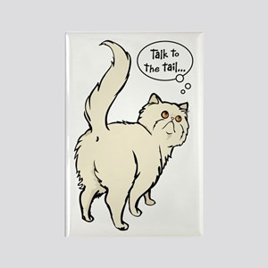 Cream Persian Tail Talk Rectangle Magnet