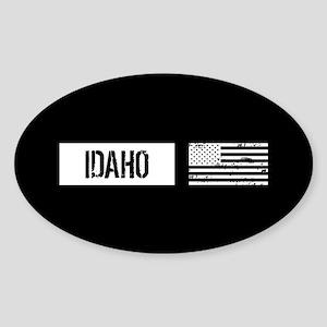 U.S. Flag: Idaho Sticker (Oval)