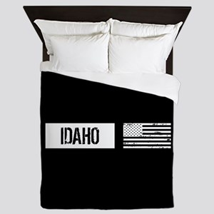U.S. Flag: Idaho Queen Duvet