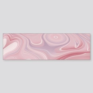 pastel pink swirls Bumper Sticker