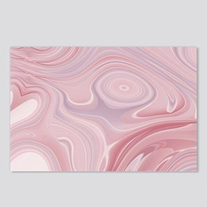 pastel pink swirls Postcards (Package of 8)
