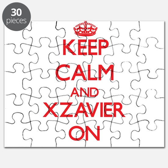 Keep Calm and Xzavier ON Puzzle