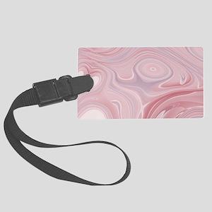 pastel pink swirls Large Luggage Tag