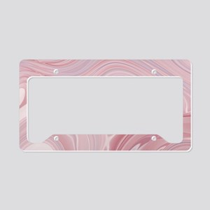 pastel pink swirls License Plate Holder