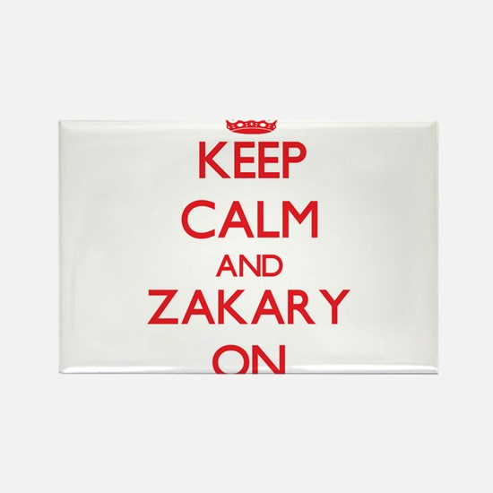 Keep Calm and Zakary ON Magnets
