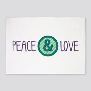 Peace Love 5'x7'Area Rug