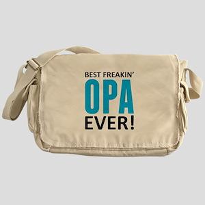 Best Freakin' Opa Ever! Messenger Bag