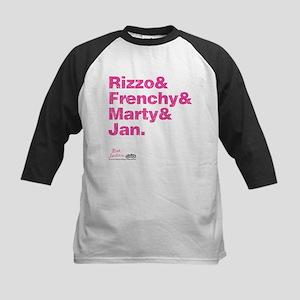 Pink Names Kids Baseball Jersey
