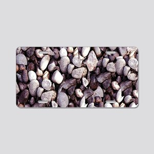 Tiny Pebbles Aluminum License Plate