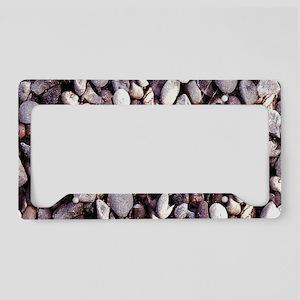 Tiny Pebbles License Plate Holder