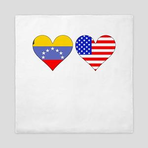 Venezuelan American Hearts Queen Duvet