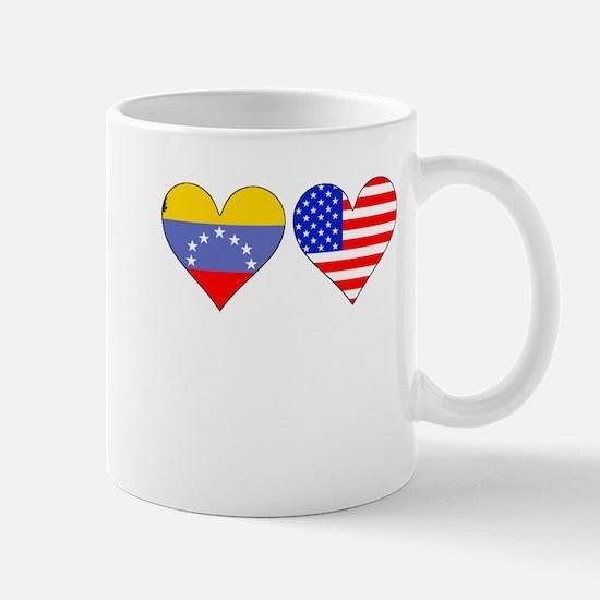Venezuelan American Hearts Mugs