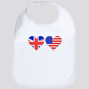 British American Hearts Bib